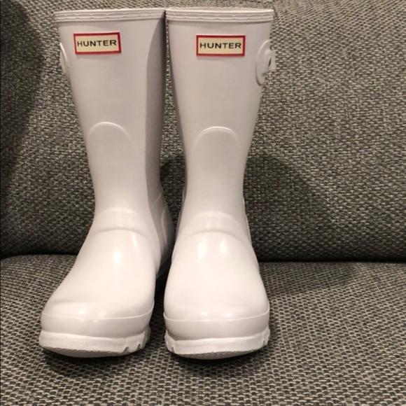 Hunter Shoes   Hunter Short White Rain